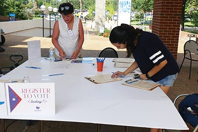A voter registration event act University of Memphis last year - U OF M/FACEBOOK