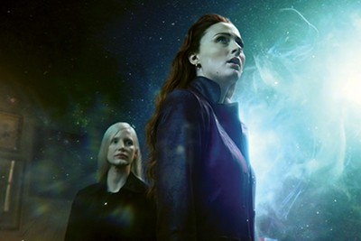 Jessica Chastain (left) and Sophie Turner try to rise from the ashes in Dark Phoenix.
