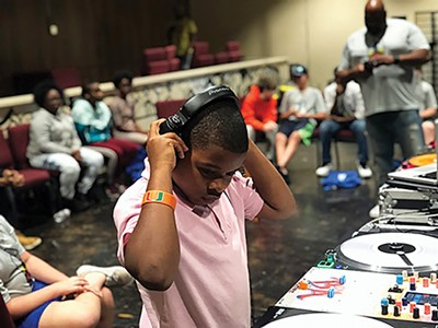 A young DJ at Camp DJ Memphis caption caption