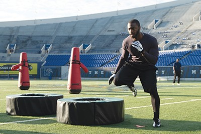 """Actor Aldis Hodge had to possess both the physicality and emotional depth to portray Brian Banks. """"Aldis was that combination in one person,"""" says director Tom Shadyac. - KATHERINE BOMBOY / BLEECKER STREET"""