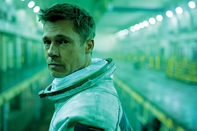 In Ad Astra, Brad Pitt's (above) eyes are as cold as the rings of Neptune (and, yes, it does have rings).