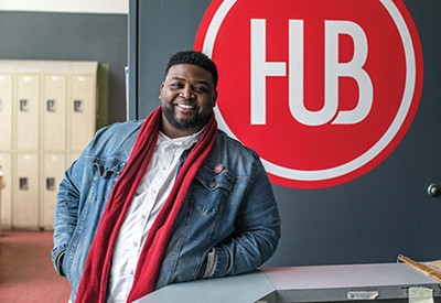 Darius Clayton works with the Hospitality Hub outreach team to help individuals experiencing homelessness.