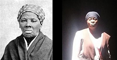 Harriet Tubman (left) comes to life in Jackie Murray's one-woman show.