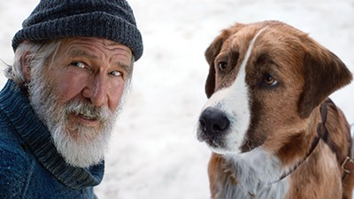 Punch it, Chewie — Harrison Ford (left) and Buck the sled dog are an earthbound, Canadian - Han and Chewbacca in The Call of the Wild.