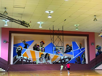 Orange Mound Community Center mural - LAWRENCE MATTHEWS III