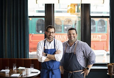 Memphis-based restaurateurs Andy Ticer and Michael Hudman (left to right)