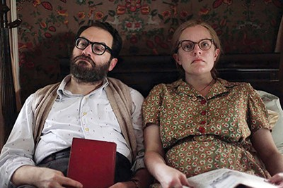Michael Stuhlbarg (left) and Elisabeth Moss shine as Stanley Hyman and haunted horror author Shirley Jackson in director Josephine Decker's new biopic about Jackson's life.