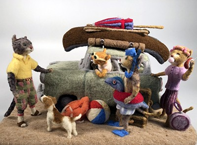 Felted wool sculpture by Nashville artist Chris Armstrong - COURTESY OF ART IN THE LOOP