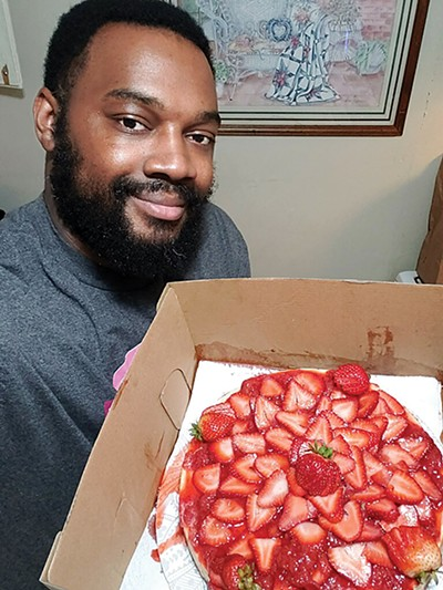 Chef Keun Anderson and his - strawberry cheesecake