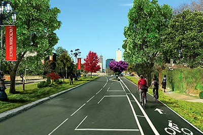 An artist's rendering of what an improved Jefferson could look like - CITY OF MEMPHIS