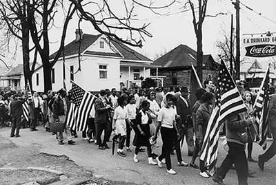 Participants in the civil rights march from Selma to Montgomery, Alabama, in 1965 - PETER PETTUS, LIBRARY OF CONGRESS