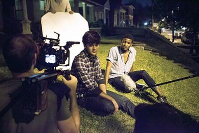 Jordan Nichols and Tristan Andre Parks as Hart films a scene - BREEZY LUCIA