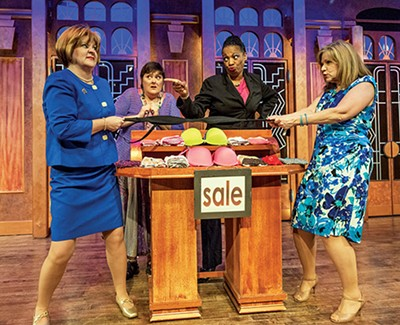 Teri Adams, Megan Cavanagh, - Linda Boston, and Judy Blue in Menopause: The Musical
