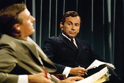 William F. Buckley Jr. and - Gore Vidal in Best of Enemies. - PHOTO COURTESY OF MAGNOLIA PICTURES