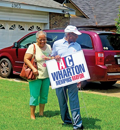 The Mayor does DIY with yard signs in Whitehaven - JACKSON BAKER