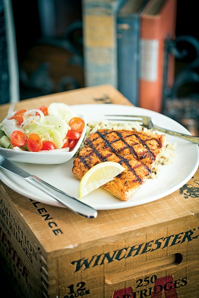 Alder Smoked Salmon dish - JUSTIN FOX BURKS