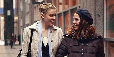 Greta Gerwig and Lola Kirke in Mistress America