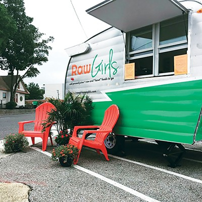 The Raw Girls Midtown trailer now operates near Muddy's Coffee & Bake Shop and Eclectic Eye. - AMY AND HANNAH PICKLE