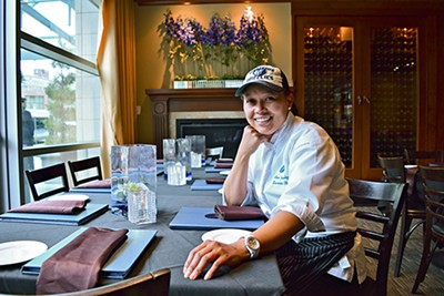 Ana Gonzalez, chef at Bleu in the Westin, is a modernist, whipping up fresh flavors from around the globe. - JOHN KLYCE MINERVINI