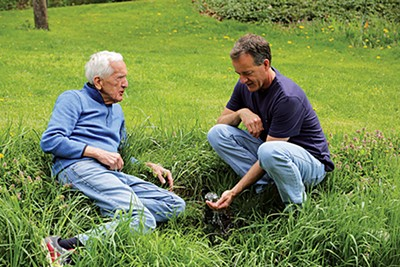 Dr. T. Colin Campbell and his son Nelson.