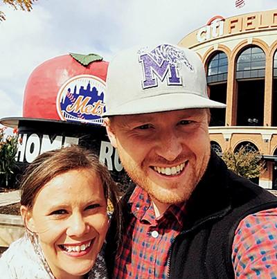 Luke Pruett and wife April in New York