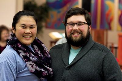 Music teachers Samantha Wilson and Joseph Powell - LAURA JEAN HOCKING