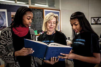 At Overton High School, - Dr. Marilyn Taylor's Facing History students Zoëy Parker and Alexis Sledge discover the story of Persons' lynching. These Facing History and Ourselves students are hoping to raise $4,500 in order to create a meditation garden at the site of Persons' lynching.
