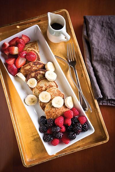 Oat, Banana, & Chia Silver Dollar Pancakes (GF)
