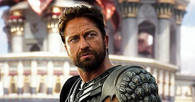 Gerard Butler glowers his way through the film.