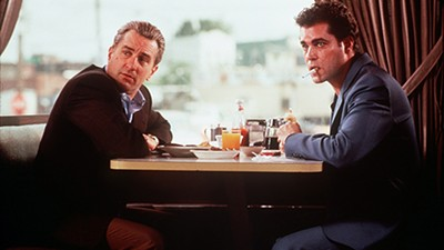 Robert De Niro and Ray Liota in Goodfellas