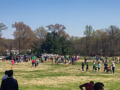 A play date event on the Greensward last weekend turned into a protest. - COURTESY GET OFF OUR LAWN