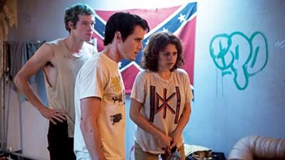 Callum Turner,Anton Yelchin and Alia Shawkat in Green Room