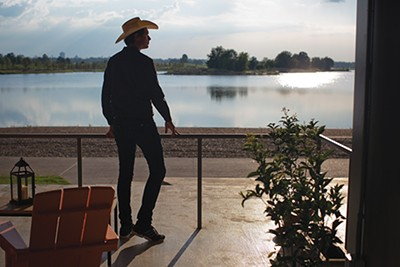 Kimbal Musk admires the beautiful view from The Kitchen.