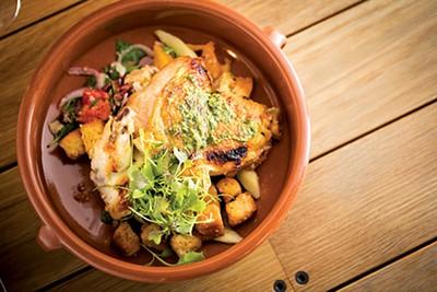 Wood Roasted Half Chicken at the Kitchen Bistro - JUSTIN FOX BURKS