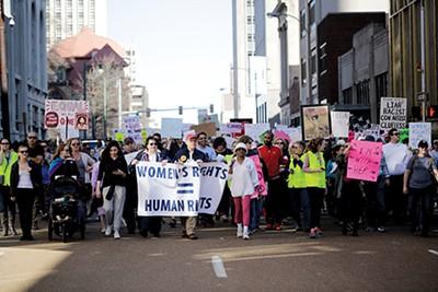 Women's March in Memphis - JUSTIN FOX BURKS