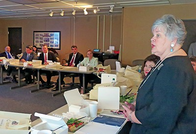 Dianne Baker of Millington was one of several spokespersons for Shelby County's suburbs who gave the county's legislative delegation an earful last week.