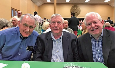 Three legislative veterans from Shelby County, all former state representatives, were among those who turned up last week at a reunion for General Assembly members at the Ellington Agricultural Center in Nashville. From l to r: Ed Haley, now city manager of Millington; Chris Turner, now a General Sessions Criminal Court judge; and Dan Byrd, now vice chairman and COO of the Bank of Bartlett. Haley was a Republican; Turner and Byrd served as Democrats.
