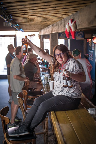 The Bobcat is the kind of bar where Sparky can hop on the bar with a handful (or two) of beer bottles.