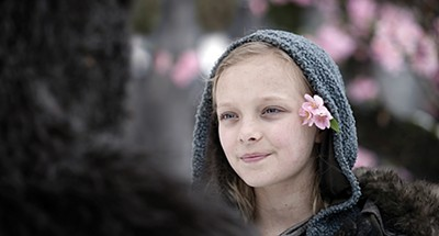 Amiah Miller as Nova, a mute human girl adopted by the apes.