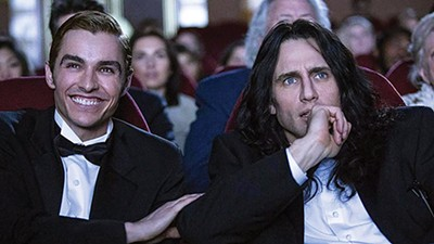 Dave (left) and James Franco make movie magic with their film about the making of The Room.