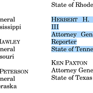 Tennessee AG Supported New Jersey on Sports Betting Suit