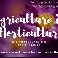 Agriculture and Horticulture 2019