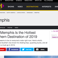 Travel Channel Dubs Memphis 'Hottest Southern Destination of 2019'