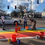 Cooper-Young Rainbow Crosswalk Gets a Permanent Refresh Sunday