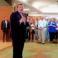 Strickland Shows Political Muscle at Poplar Plaza Headquarters Opening