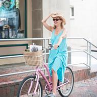 Biking in Style - Emmye Walker