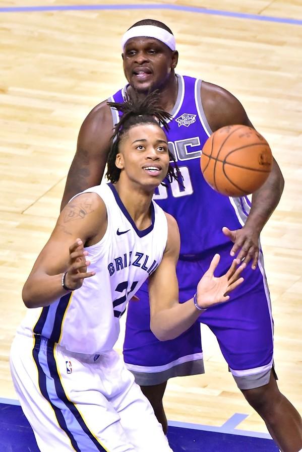 Deyonta Davis was happy to welcome the basketball into his warm embrace. - LARRY KUZNIEWSKI