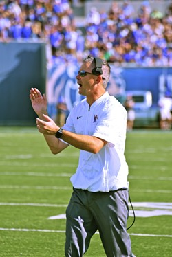 Memphis coach Mike Norvell has gone 18-8 in two seasons on the Tiger sideline. - LARRY KUZNIEWSKI