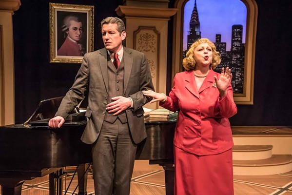 David Shipley (left) and Jude Knight star in Souvenir, A Fantasia on the Life of  Florence Foster Jenkins at Theatre Memphis in the Next Stage, February 9 -25, 2018.