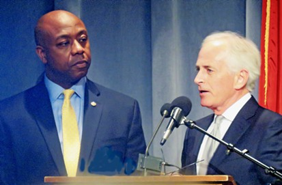 Senators Tim Scott and Bob Corker at Lincoln Day - JB